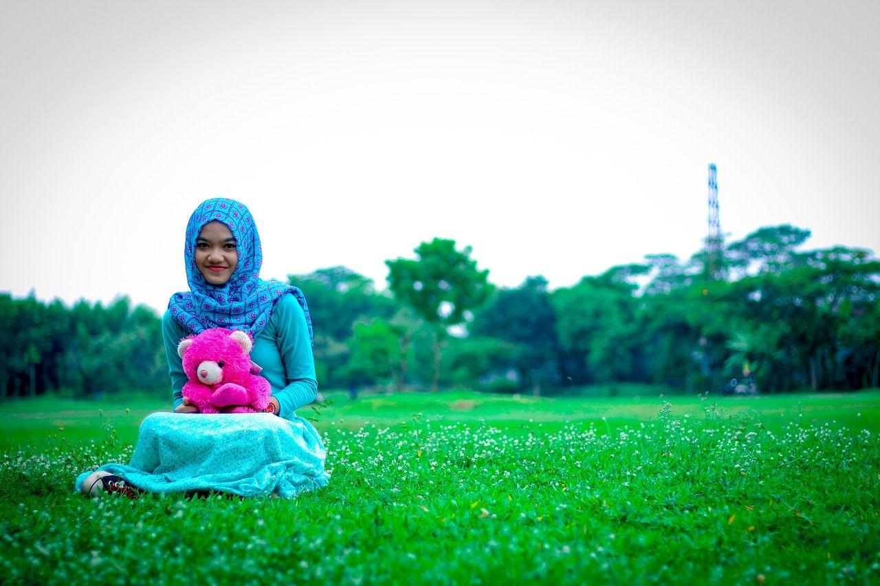 hijab motif kotak kotak
