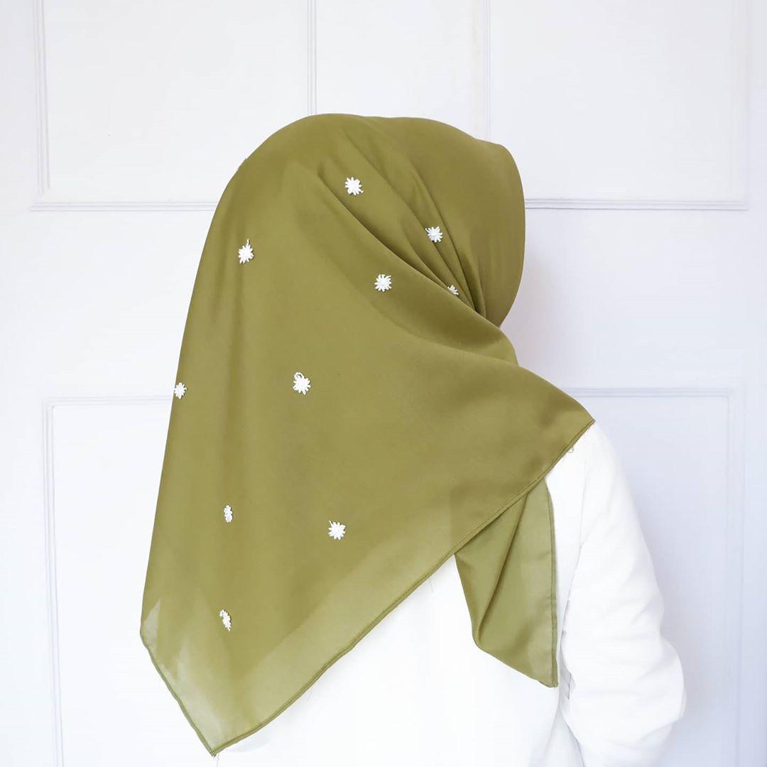 hijab segi empat bordir